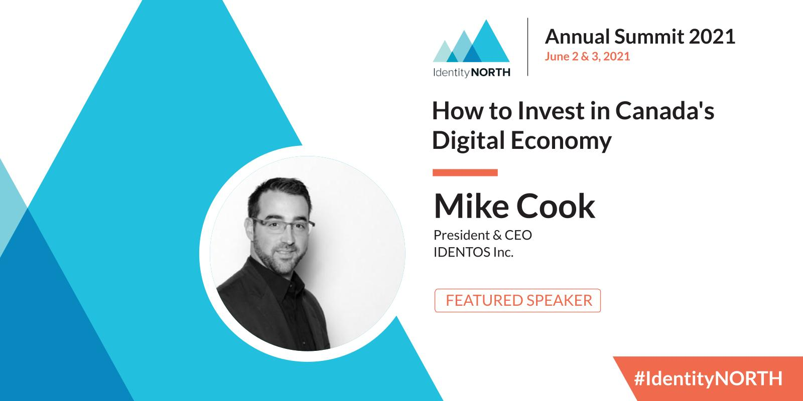 Mike Cook, IDENTOS CEO, speaker at Identity North