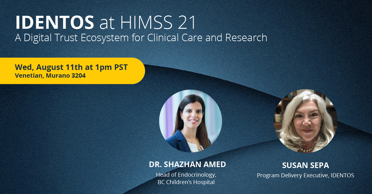 invite to IDENTOS at HIMSS 2021